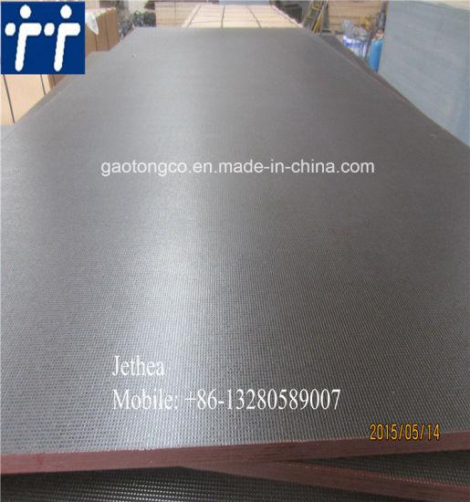 21mm Anti-Slip Overlaid Plywood/18mm Non-Slip Film Plywood/Non-Slip Plywood for Diamond Decking