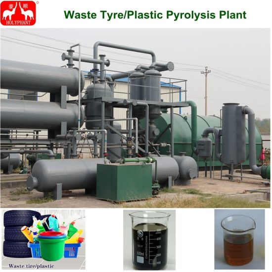 China Tire Pyrolysis Plant/Waste Plastic Tire Recycling Machine
