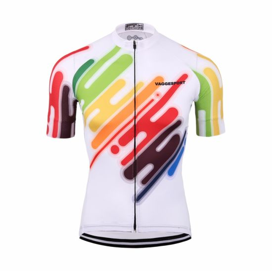 Colorful Cycling Clothing Anti-UV Racing Sportswear Top Bike Shirts pictures & photos