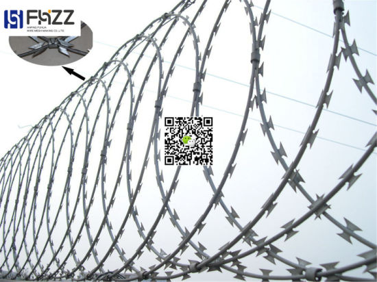 China Hot Dipped Galvanized Military Security Fence /Concertina ...
