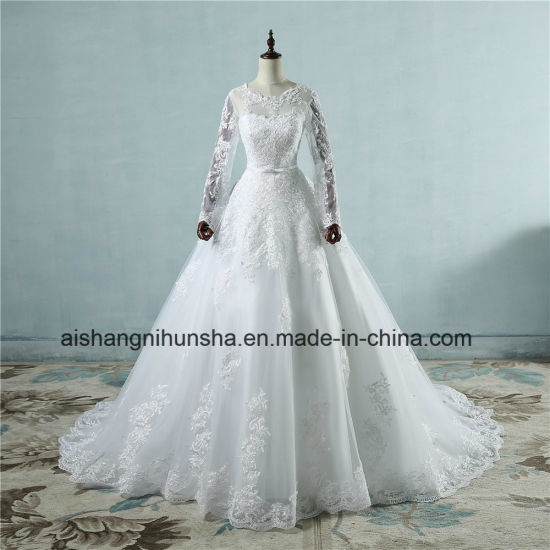 China Good Quality Appliqued Princess Tulle Lace Wedding Dress ...