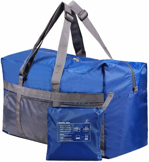 Foldable Duffel Bag for Women Men Outdoor Travel Lightweight Waterproof Carry-on Luggage