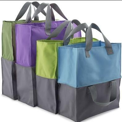 Non-Woven Expandable Grocery Shopping Bag Trolley Bags Totes Bag