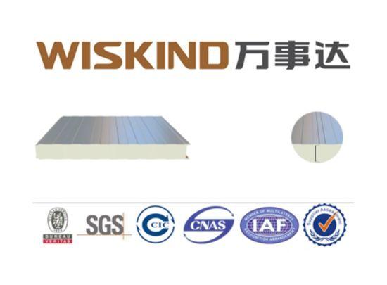 Decoration EPS/Rock Wool/PU/PIR Sandwich Wall Board for Office Building