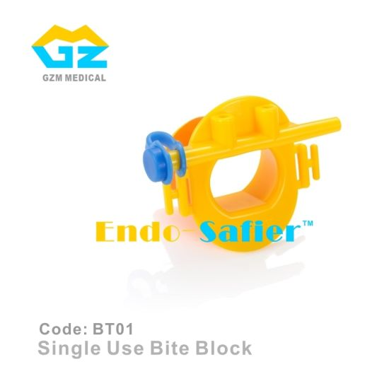 Single Use Bite Block with Oxygen Connector Disposable Endoscopy Mouthpiece Endoscopic Mouth Guard pictures & photos