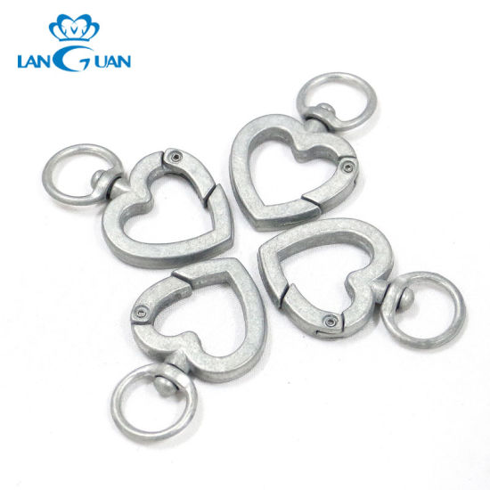Fashion Heart Shape Snap Hooks for Purses