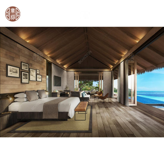 Wooden Modern Maldives Water Villa Groups Project with Hotel Furniture