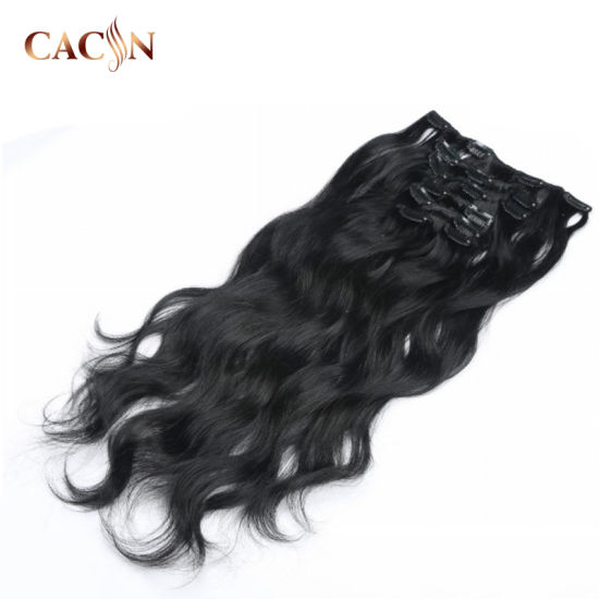 100% Unprocessed Brazilian Clip in Human Hair Extension