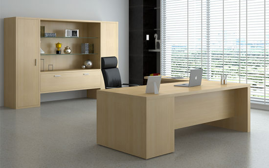 Modern Manager Table Office Furniture Executive Wood Desk (HYDK1008)