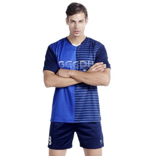 Factory Wholesale Soccer Jersey Shirt/ Football T Shirt with Custom Printing