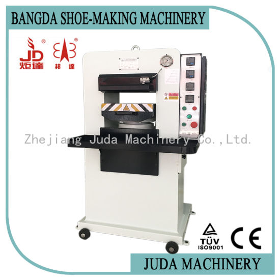 40t Manual Hydraulic Embossing Machine for Sandals Shoes Leather Belts