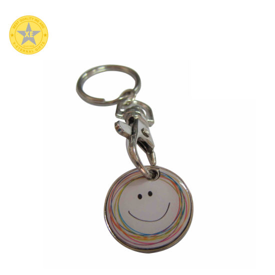 Free Sample Custom Metal Zinc Alloy Gold Plated Japanese Style Anime Robot Keychains with Rhinestone pictures & photos
