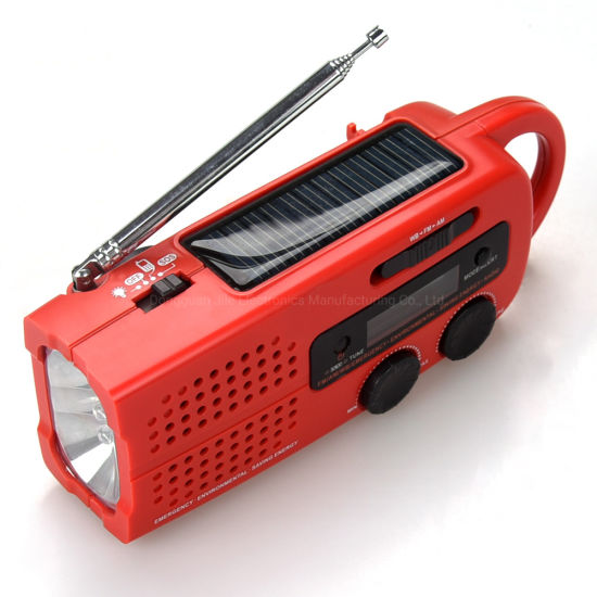 New Style Hot Sale Weather Warning FM/Am/Wb Dynamo Mini Radio pictures & photos