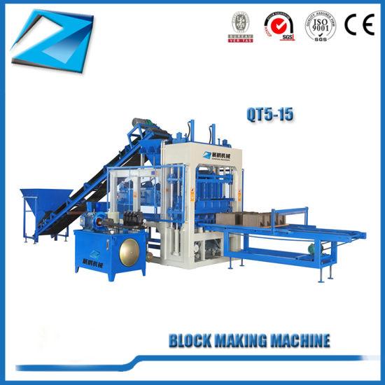 Qt5-15 Automatic Cement Compressed Earth Blocks Making Machine
