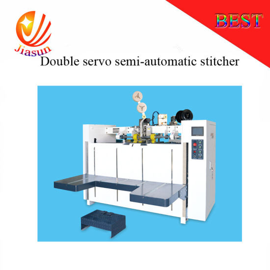 Double Servo Semi Automatic Stitcher Machine pictures & photos