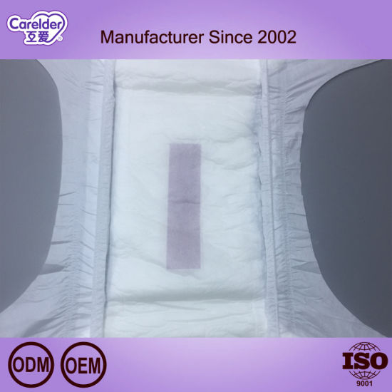 Cheap Big Size Velcro Adult Diaper with Good Absorption for European Market