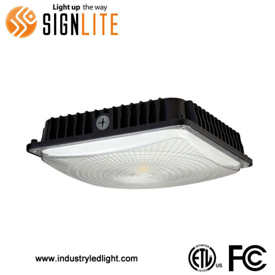 Dimmable Ceiling Petro Station Light 45W LED Canopy Light ETL FCC Approval  Garage Light Fittings