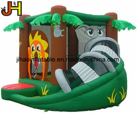 Animal Theme Inflatable Elephant Bouncy Castle Slide for Kids pictures & photos