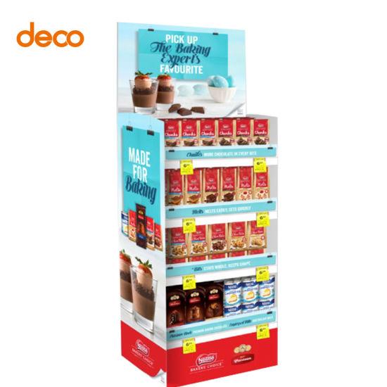 Corrugated Board Store Biscuit Food Retail Display Shelf