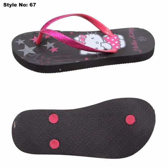 95d54fae78f5c6 China Fashion Design Ladies PE Sole Rubber Strap Slippers for Women ...