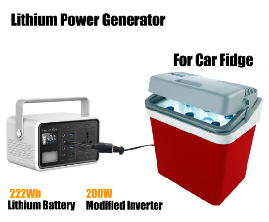 Portable Power Station 222W, Power Camping CPAP Generator Backup Supply with 200W AC Lithium Battery Outlet LED Light for Outdoors Travel Emergency