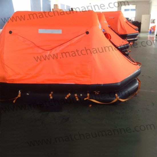 Fishing Boat Use Throw Over Board Inflatable Life Raft pictures & photos