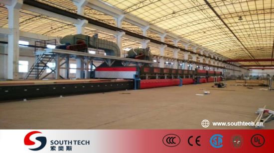 Southtech Full Automatic High Productivity Intelligent Control Double Chamber Tempering Glass Production Machinery with Compressed Air Convection System Price