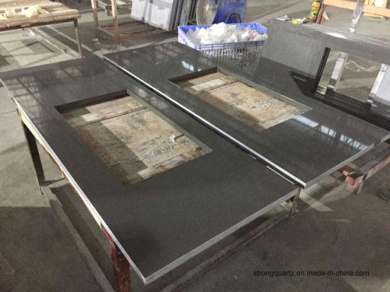 Grey Kitchen Quartz Stone Countertops Big Slab Caesarstone 2003