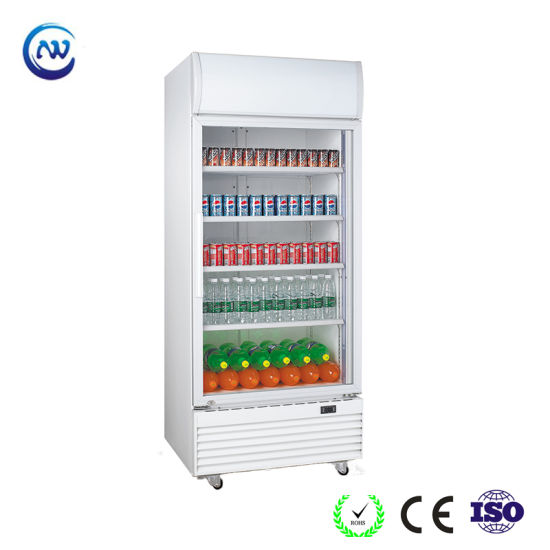 China Supermarket Commercial Glass Door Upright Freezer Drinks