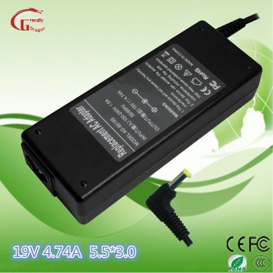 Samsung/HP/Acer/Liteon/Asus/Ls/DELL/Gateway 19V 4.74A 90W Computer Adapter Notebook Charger Laptop Power Supply pictures & photos