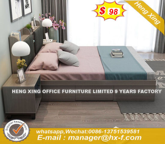 Best Price Double Size Synthetic Plywood Bed (HX-8ND9536) pictures & photos