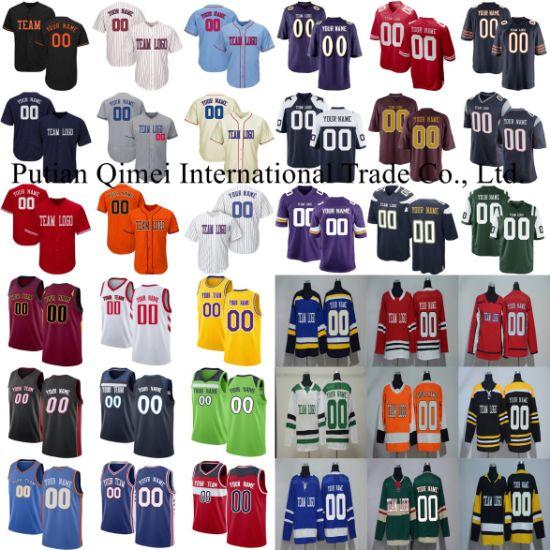 Customize Football Baseball Hockey Basketball Rugby Soccer College Hoodies Jerseys