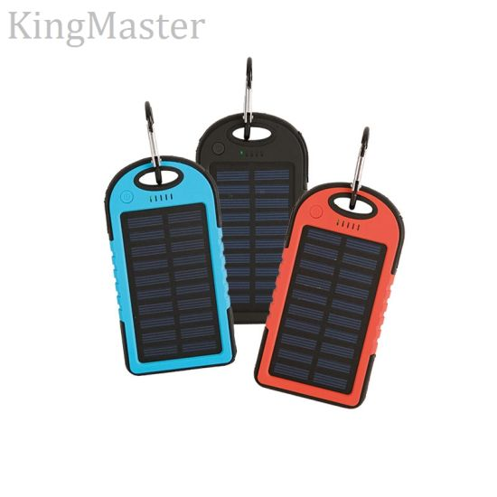 [King Master ][4.8-5.6$] 1800mAh 4000mAh 5200mAh Power Bank Solare Silicon Power Pack pictures & photos