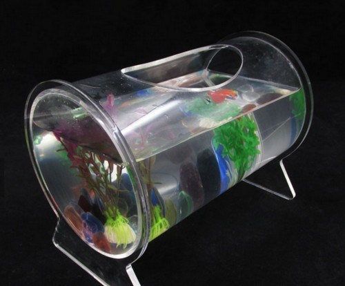 Customized Clear Round Acrylic Fish Tank for Decoration pictures & photos