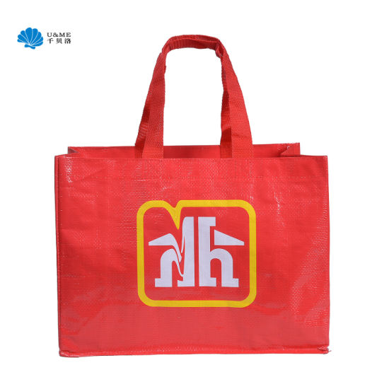 Gloss PP Laminated Woven Shopping Bag pictures & photos