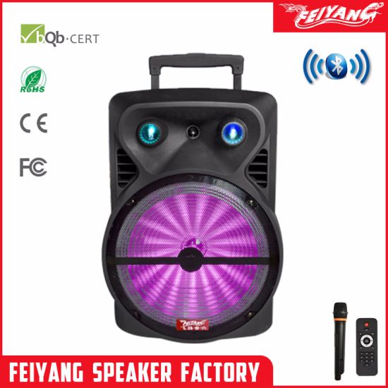 15 Inch Outdoors Party Bluetooth Trolley Speaker