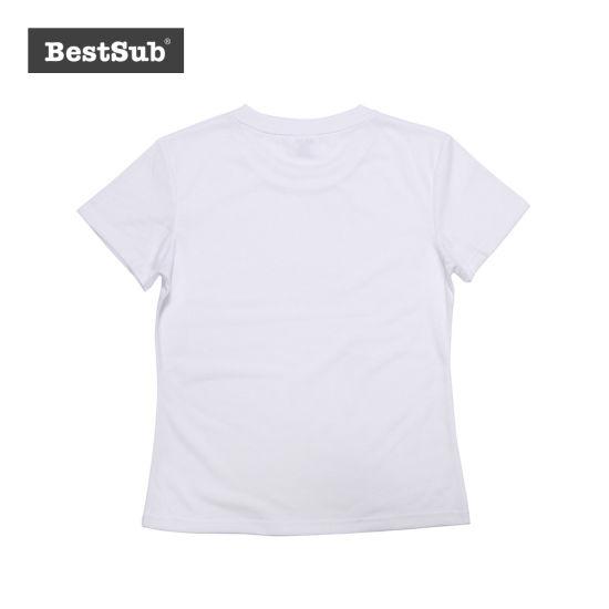 61925d20b Bestsub Women′s Round Neck Polyester Short Sleeve Sublimation Heat Transfer  Printing T Shirt (JA202)