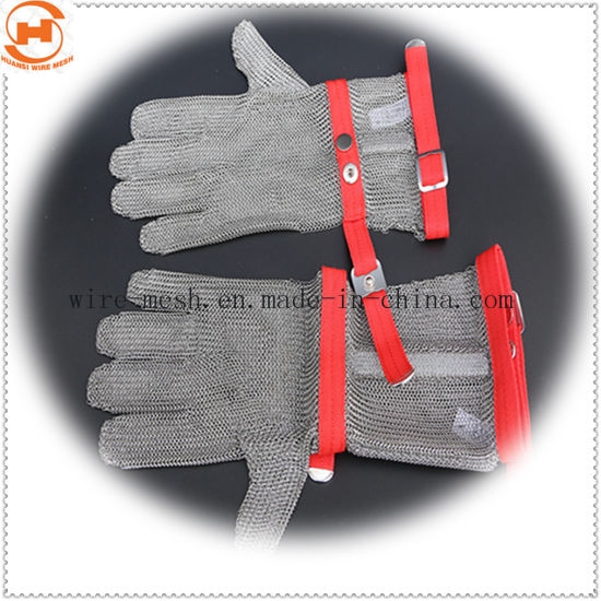 Butcher Five Fingers Safety Gloves with Extended Textile Cuff
