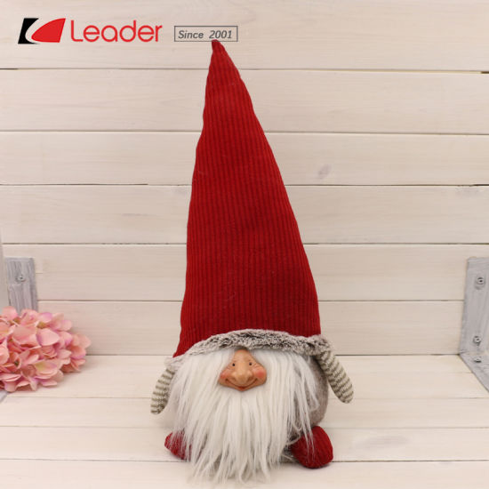 Exclusive Adorable Christmas Fabric Gnome For Home And Table Decoration