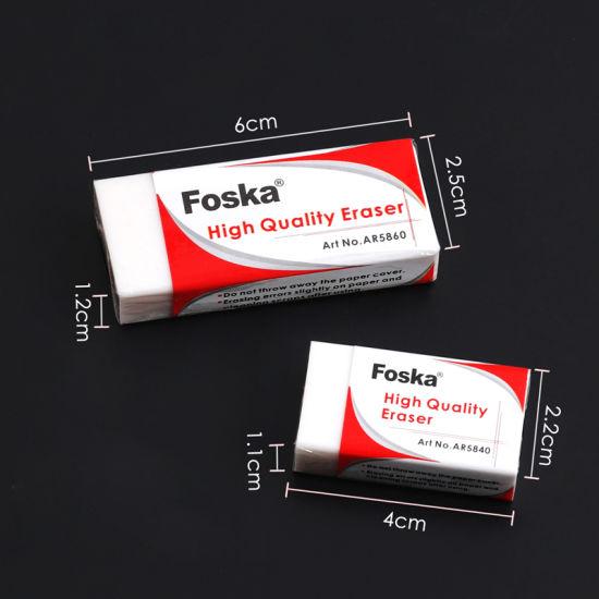china foska high quality stationery white soft pvc eraser china
