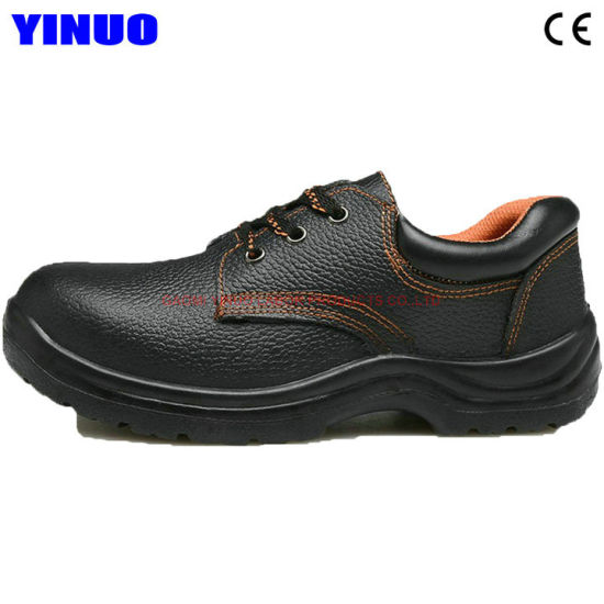 Leather Upper Steel Toe Men Working Safety Shoes