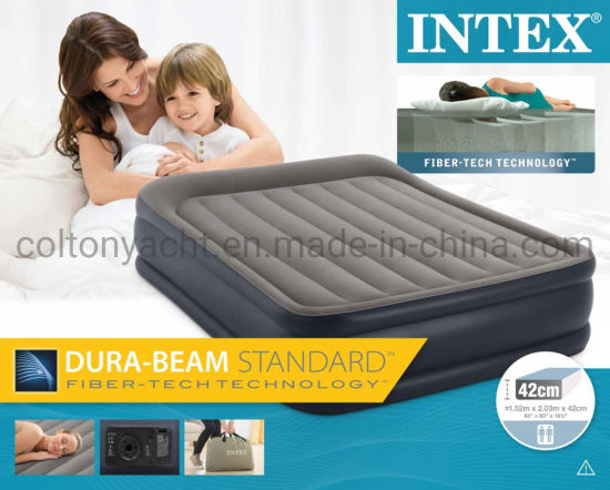 China Intex 64136 Airbed Queen Deluxe, Deluxe Air Bed Queen Size