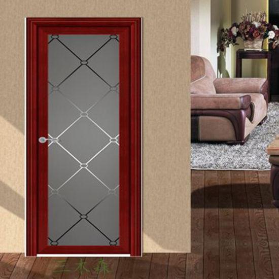 Designed Aluminum Door Sheet Interior Frosted Glass Door Nigeria