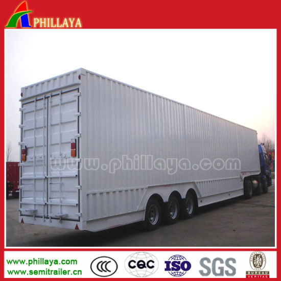 Large Box Cargo Van Semi Trailer for Truck pictures & photos
