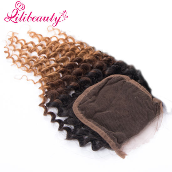 100% Human Hair Lace Closure Hair Closure with Bunldes in 1b/4/27 pictures & photos