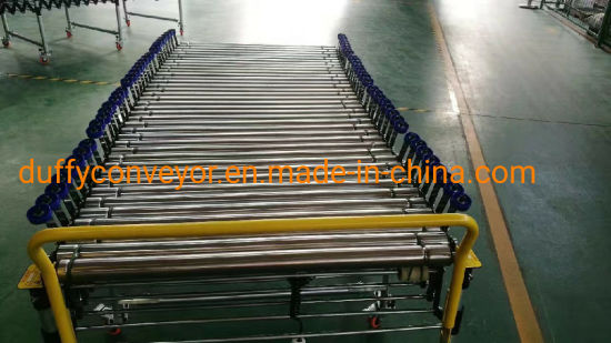 Electric Flexible Power Loading and Unloading Conveyor Line