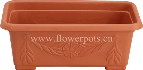 Plastic Rectangular Flower Pot (KD3402) pictures & photos