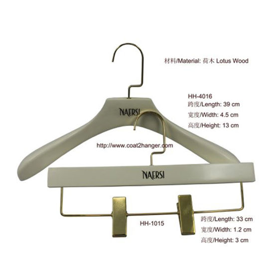 White Luxury Wooden Clothes Hanger Pictures Photos