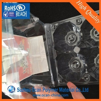 Transparent with Blue Tint 0.2-3.0mm PVC Film Roll/PVC Film for Thermoformed Box/Tray/Panel