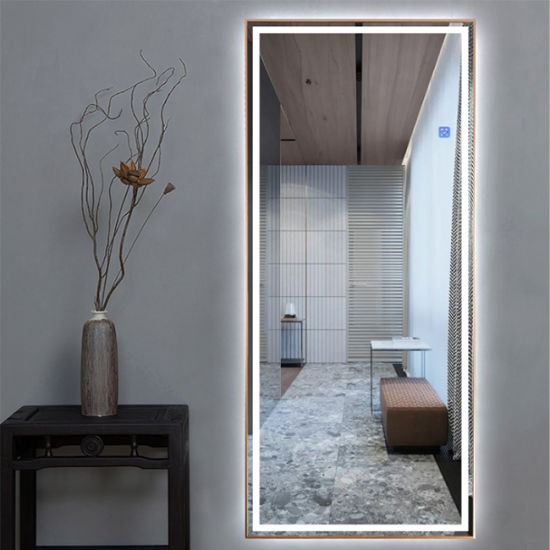 China Large Full Length Led Bathroom, Mirror With Lights Around It
